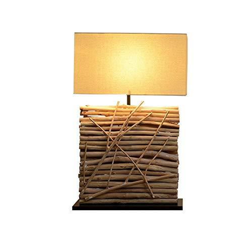 Xiao Fan/tafellamp, houten kunst hotel thee tee teehaus landelijk buitenverlichting patroon nieuwe Chinese verlichting 40 & times; 65 cm Scandinavische creativiteit