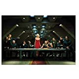 ZHHCVB Battlestar Galactica Last Supper Art Film Poster and Prints Canvas Painting Wall Art for Home Wall Decor -20X30 Inch No Frame