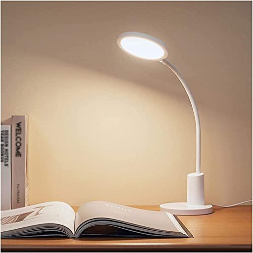 AERVEAL Lámparas de Estudio Lámpara de Escritorio Lámparas de Mesa Led Que Cuidan la Vista Regulable Luz de Escritorio de Oficina Interruptor Táctil para Estudio Lectura Trabajo Blanco Ahorro de Ener