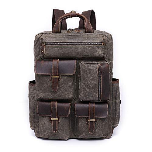 zZZ Retro-Laptoptasche für Herren, 35,6 cm (14 Zoll), wasserdicht, tragbar, große Kapazität, 32 x 13 x 44 cm (Farbe: Grau)
