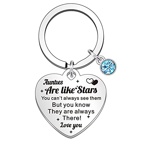 QMVMV Auntie Keyring Aunt Gifts from Niece Nephew Christmas Birthday Gift for Aunties