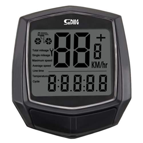 Fahrrad-Tachometer, wasserdicht, automatisches Aufwachen, multifunktional, Fahrrad-Computer, Tracking-Entfernung, Geschwindigkeit, Kilometerzähler, Kabelsensor, Zubehör mit 1,5 Zoll LCD-Display