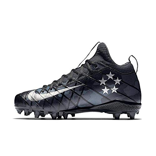 Nike Field General 3 Elite TD Mens Football Cleats (11.5, Black/Grey/Silver)