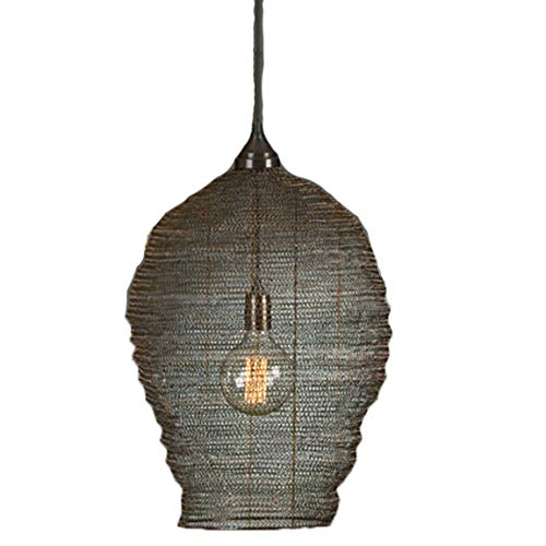 Bada Bing Hochwertige Große Hängelampe Harlem Korb Schwarz Lampe Metallgeflecht Netz Deckenlampe Dekolampe Edel
