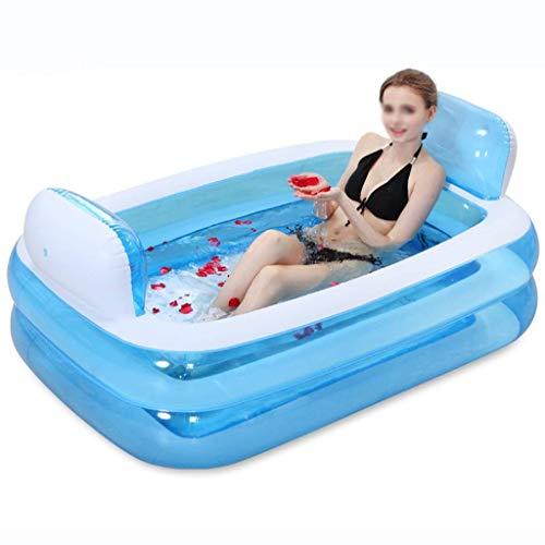 Qiutianchen Bañera Inflable Moderna, bañera Adulta de Engrosamiento de Dos Capas con Bomba eléctrica Piscina privada Piscina Feliz Pool Cuerpo Completo (Color : Blue)