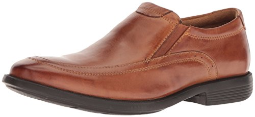 Nunn Bush Men Dylan Moc Toe Slip On Loafer with KORE Comfort Walking Technology, Cognac, 10.5