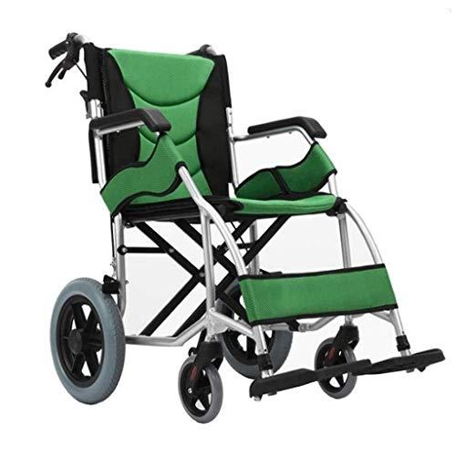 Silla de ruedas plegable ligera de conducción médica, for discapacitados en silla de ruedas for minusválidos mayor del niño de aluminio sillas de ruedas Travel silla de ruedas, ayuda a la movilidad, r