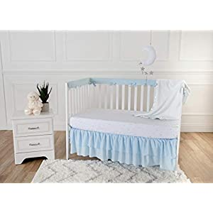 American Baby Company Fleece Blanket 30 X 40 with 2 Satin Trim, White, for Boys and Girls