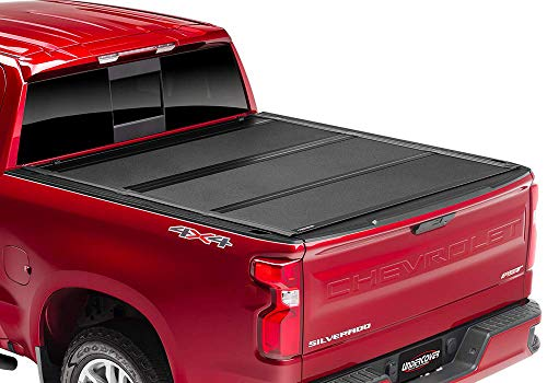 Undercover ArmorFlex Hard Folding Truck Bed Tonneau Cover | AX12022 | fits 2019 GMC Sierra 1500 5.8 ft Bed (New Body Style) Crew/Ext w/ Multipro TG-Black Textured