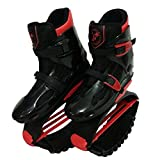 Jeunes/Adultes Rebond Chaussures Echasses Urbaines Chaussures Anti-Gravity Bottes pour Courir Poids Gamme de Charge 50-90kg / 110-200lbs black-red-50-70kg/42-44