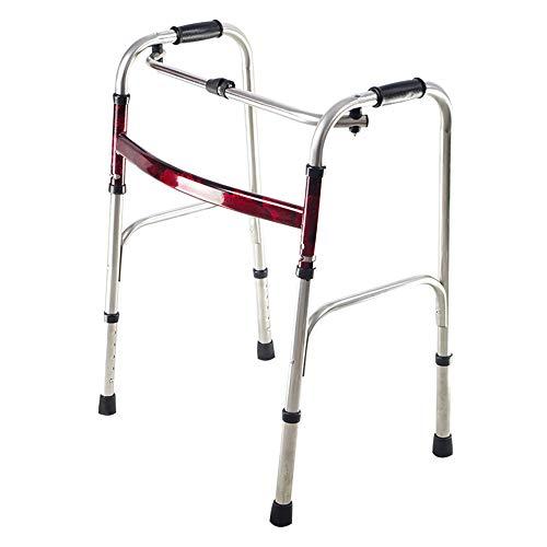 Xuping shop Klappbare Senioren Gehhilfe rot Flachstahl Gehhilfe Doppelarmlehne Rehabilitationshilfsmittel 53 × 45 × 74 (92) cm