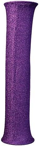 8 ft. Purple 在庫一掃売り切りセール Glitter Luminescent Column Booth Slip Photo Prop 低価格 Ba