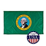 Vispronet - Washington State Flag - 3ft x 5ft Knitted Polyester, State Flag Collection, Made in The USA (Flag Only)