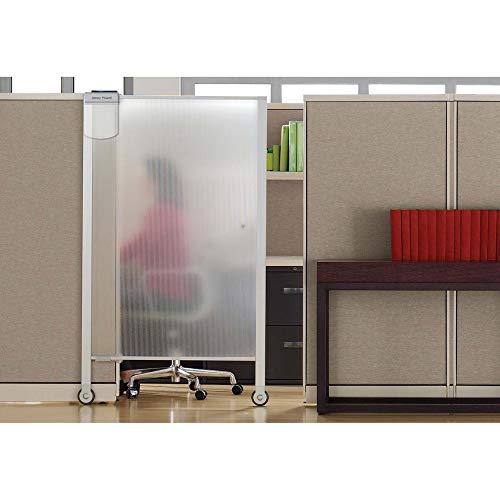 Quartet Workstation Privacy Screen, 64' x 38', Cubicle, Office, Aluminum Frame (WPS2000)