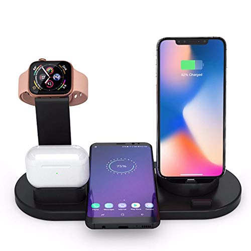 Nomi Wireless Charger, Suitable for Apple Watch Series 6 / SE / 5/4/3/2; AirPods 1/2 / Professional Edition; IPhone 12/12 Pro / 11 / XS/X / 8/8 Plus; Samsung Galaxy Buds / S20