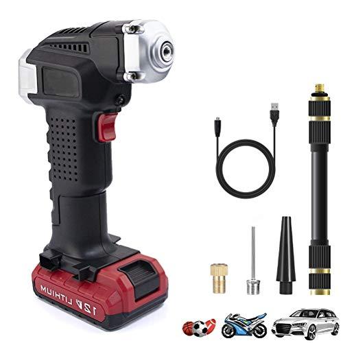 CQB Akku Luftpumpe Elektrische Digital-Auto-Reifen Luftpumpe 12v Kompressor Auto Pump Tragbare Gummireifen for Autos Fahrräder Motorräder Wireless Mini-Luftpumpe E-30