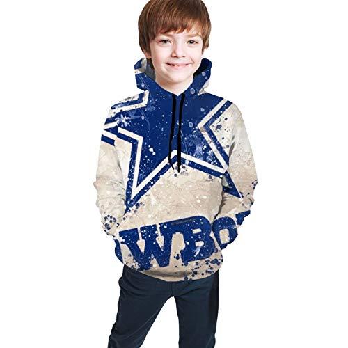 D-Allas Cowboy Casual 3D Digital Print Hoodie Shirt Pocket Boy and Girl Teen Hooded Sweat Sweatshirt