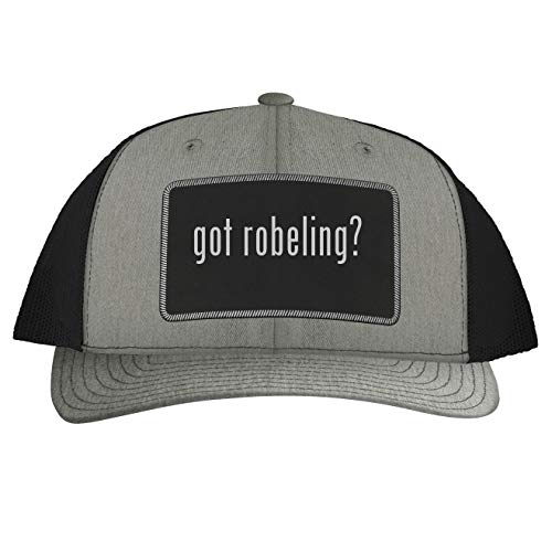 got Robeling? - Leather Black Patch Engraved Trucker Hat, Heather-Black, One Size