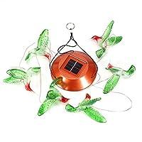 プラスチック製のソーラーライトチャイム、かわいい鳥の形のロマンスソーラーLEDチャイム、ガーデンパティオ用(color)