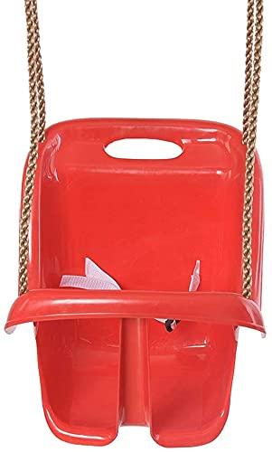 TAIDENG Baumschwing im Freien Swing Chairs Indoor Outdoor Safe gesunde Schaukel für Kinder Spielzeug für Kinder Baby Niedriger Rücken PE Plastikkorb Spaß Spiele Freizeit ( Color : Red )