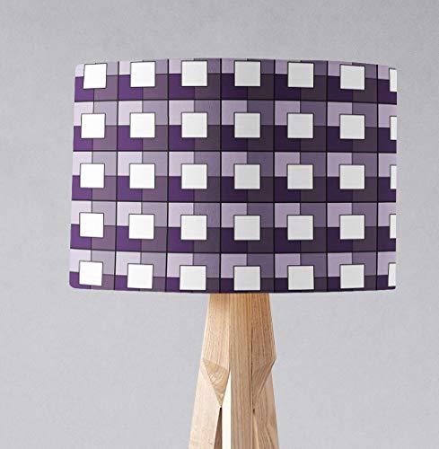 Lila geometrische Quadrate Lampenschirm für Tischlampe oder Deckenlampe