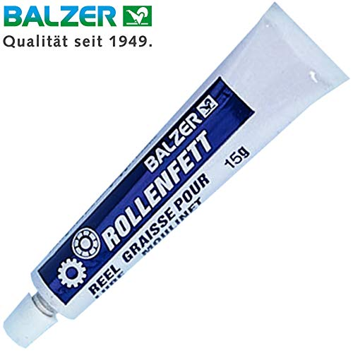 Balzer Rollenfett 15g - Fett für Angelrollen, Getriebefett für Stationärrollen, Baitcaster Rollen & Multirollen, Rollenpflege