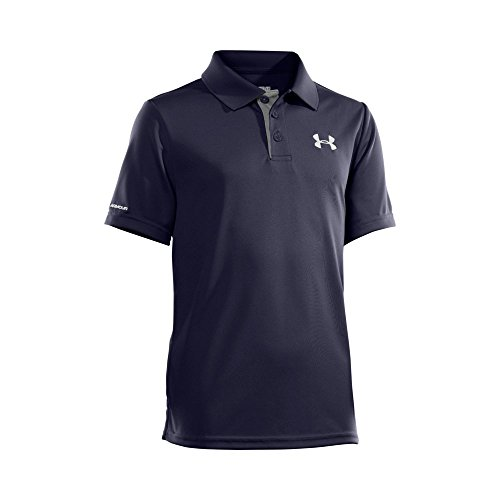 Under Armour Boys' Match Play Polo, Midnight Navy /White, Youth Large