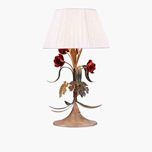 Wddwarmhome Lampe de décoration de fleurs rose rouge, E27