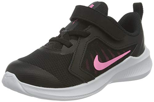 Nike Downshifter 10 Baby/Toddler Sh, Scarpe da Corsa Unisex-Bimbi 0-24, Black/Pink Glow-Anthracite-White, 23.5 EU