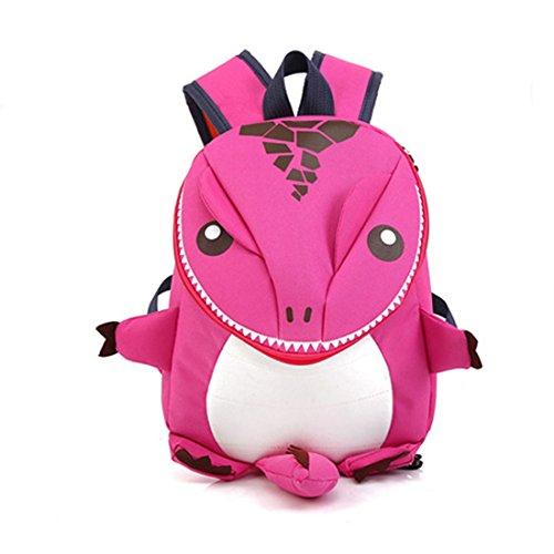 恐竜バッグ キッズバッグ 子供バッグ 3WAYS リュック バッグ アニマル リュックサック カバン おでかけ アウトドア スポーツ バックパック 子供 大人 ピンク 3-10歳