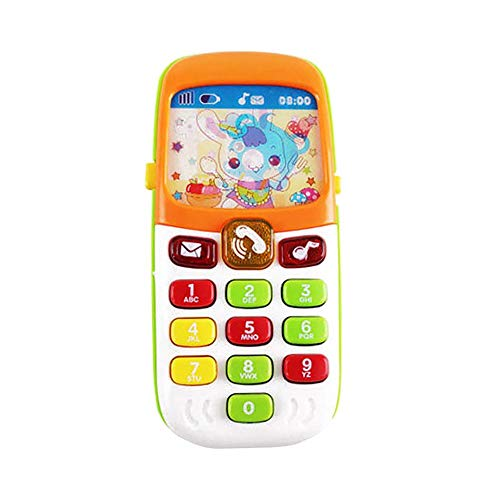 Ladeyi Cell Phone Toy Children Replacement Phone Toys Play Piano Music Learning English Educational Cell Phone Mobile Study Best Gift Prize for Baby Kids
