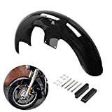 Motorcycle Front Fender, 21' Wrap 5.5' Wheel Mudguard, CANMIYOU Already painted Gloss Black Fit For Harley Custom Bagger Touring Electra Glide Street Glide Road King Road Glide