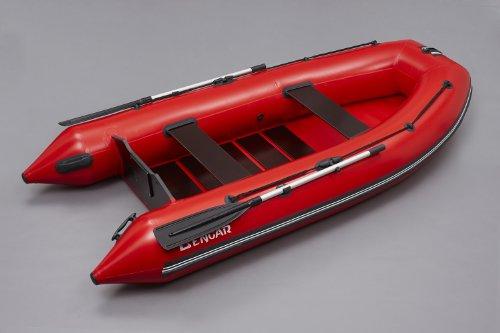 Bengar Schlauchboot Set L-320 Lotus 320, Motorboot mit Lattenboden in rot
