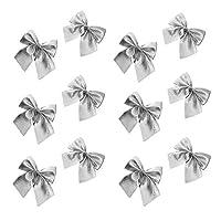 Tooart 12個のキラキラ蝶ネクタイクリスマスツリーパーティーデコレーションクリスマスデコレーションリースフェスティバルボウノット