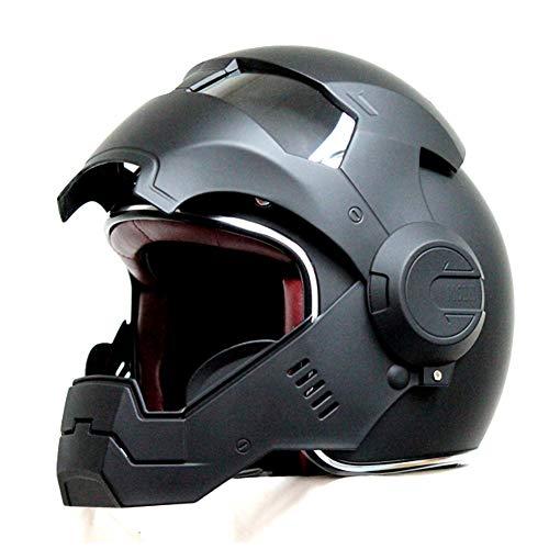 MENUDOWN Motorrad Helme,Motocrosshelme Full Face Touring Motorrad Harley Vintage Helm Klapphelme...