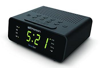 Emerson CKS1800 SmartSet Alarm Clock Radio with AM/FM Radio Dimmer Sleep Timer and .9  LED Display CKS1800