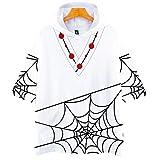 BIGMARK コスプレ ハロウィン 仮装 Tシャツ tシャツパーカー メンズ 男女兼用 鬼滅の刃 コスチューム 半袖 大人 フード付き 大きいサイズ 小さいサイズ 蜘蛛累 M