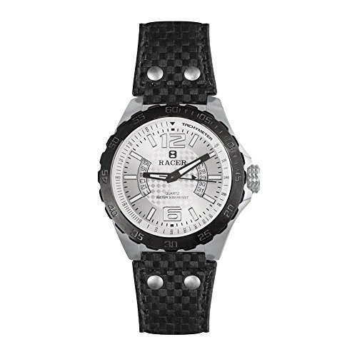 Racer R300 - Reloj Analógico para Hombre, de Cuarzo con Correa en Cuero