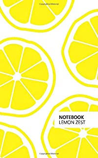 Notebook Lemon Zest: Fun notebook 96 ruled/lined pages (5x8 inches / 12.7x20.3cm / Junior Legal Pad / Nearly A5)