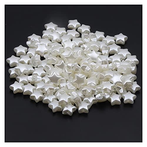 KASILU Zhuz54 50 unids Forma de Estrella Perlas de imitación Perlas de acrílico Espaciador de Cuentas para joyería Haciendo Collar 11mm Perlas Sueltas Bricolaje Pulsera Bricolaje