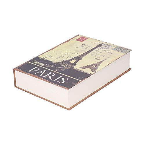 Caja de seguridad innovadora y segura para libros con llaves Caja de almacenamiento de dinero en efectivo con forma de libro simulada, ideal para joyas, dinero y efectivo (8.7x6.0x1.8in)