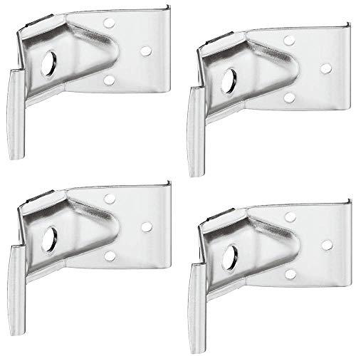 Gedotec Winkelbeschlag Tisch-Zargenverbinder Tischbein-Beschlag für Holz-Möbel & Bänke | Höhe 40 mm | Stahl verzinkt | Winkel-Verbinder für eine stabile Konstruktion | 4 Stück - Möbelverbinder Metall