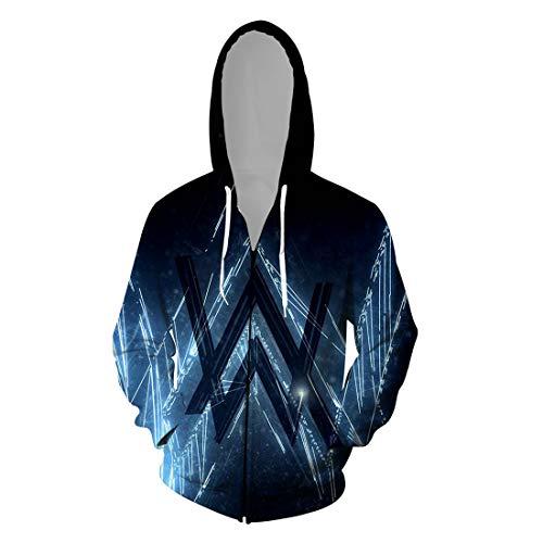 cshsb Alan Walker Hoodie 3D Gedruckt Hoodies,Unisex Pullovers Modischen Warme Langarm Sweatshirt mit Einstellbare Kordelzug,A,L-XL