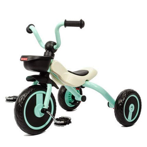 Tricycle for Kids Age 1 Tricycle Children Pedal Smart Design 3 Wheeler PU Seat,Toddlers Children Ride on Pedal Trike Bike Metal Frame Trike For 1-6 year old black JINHH Trike Bike