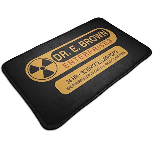 HUTTGIGH Back To The Future Dr E Brown Enterprises 24 horas Scientific Services - Alfombrilla antideslizante para puerta de baño, alfombra de cocina, alfombra absorbente de 19.5 x 31.5 pulgadas