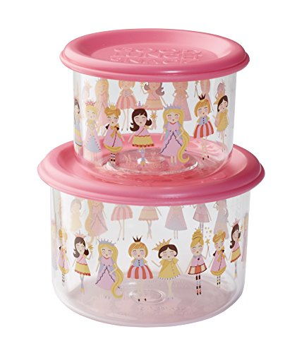 Sugarbooger Good Lunch Snack Containers Small Set-of-Two, Princess