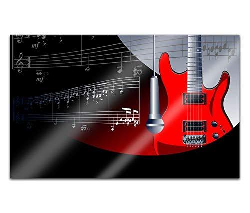 Acrylglasbilder 80x50cm Piano Klavier Tasten Musik Gitarre abstrakte Kunst Acryl Bilder Acrylbild Acrylglas Wand Bild 14H665
