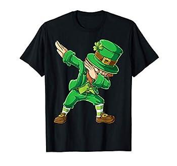 St Patricks Day Dabbing Leprechaun Boys Kids Men Dab Youth T-Shirt