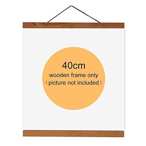 Bilderrahmen von magnetisch Bilderrahmen aus Holz Natur Halterung Leinwand-Malerei Bild zeigt für Dekoration Haus, Holz Aluminium, 40 cm
