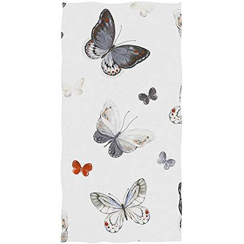 mallcentral-EU Hand Badetuch Schmetterling für Badezimmer Fitnessstudio Gesicht